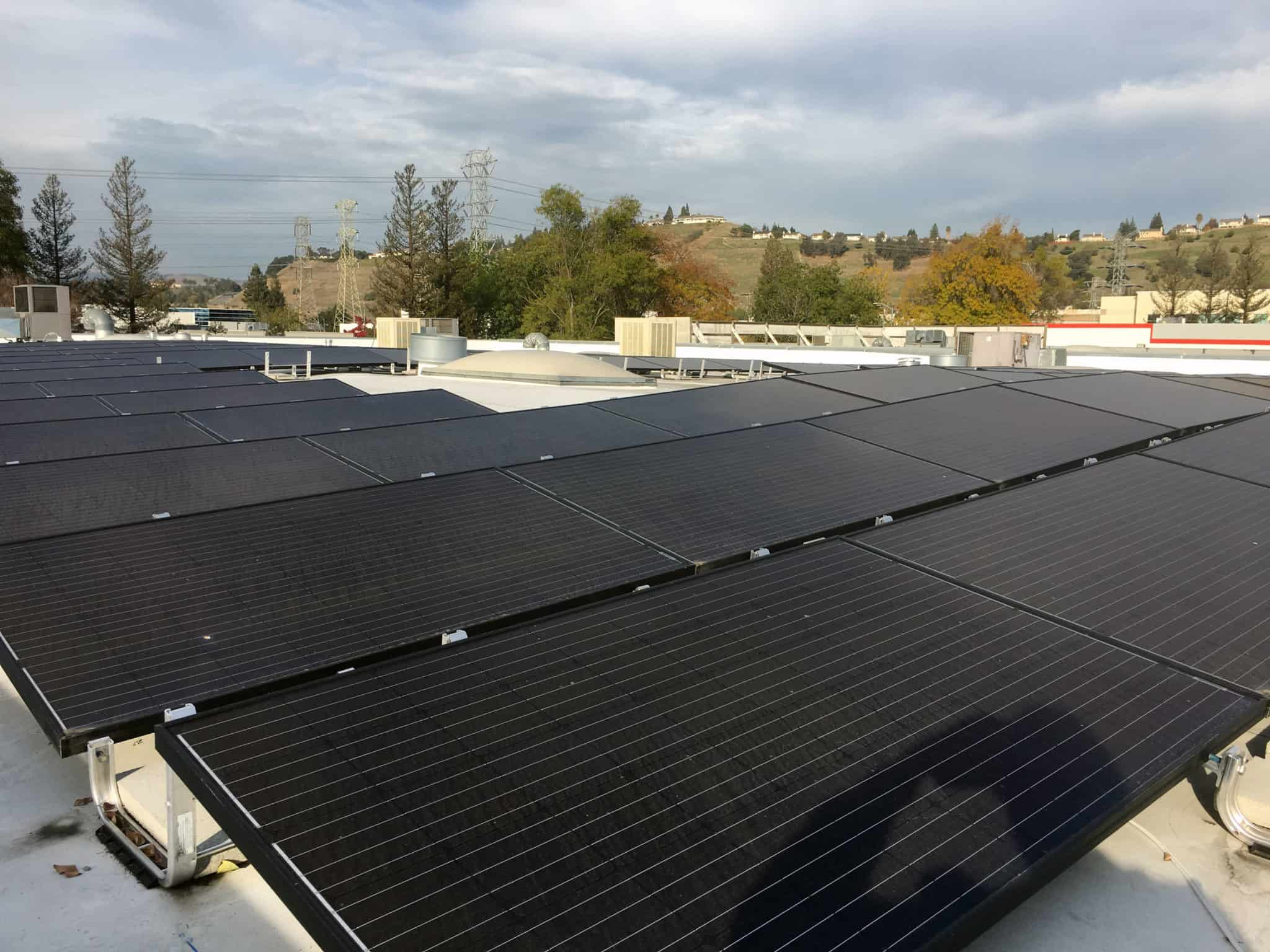 Surplus Service installed solar panels on its roof, which will reduce the company's carbon footprint to virtually zero.