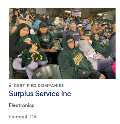 "Surplus Service is ""Great Place to work"" Certified"